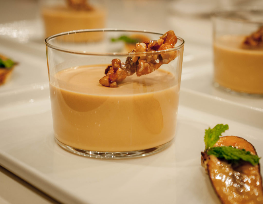 panna cotta with praline